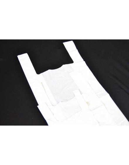 Bolsa camiseta blanca.