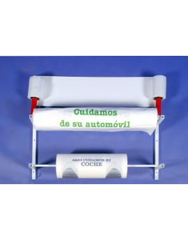 Expositor de pared doble barra